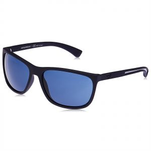 02aace0aef2 Emporio Armani Wayfarer Sunglasses for Men - Blue Lens