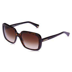 7864d15252e Emporio Armani Square Sunglasses for Women - Brown Lens