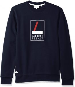 be4150984 Lacoste Printed Sweatshirts for Men - Navy Blue
