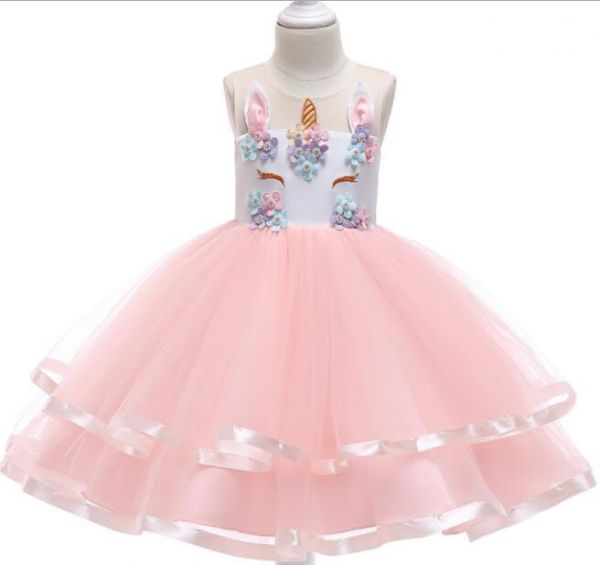 4c1f8ffe0d Fairy Kids Unicorn Costume Dress Girl Princess Flower Pageant Party Tutu  Layered Dresses For 3 to 10 Years Old