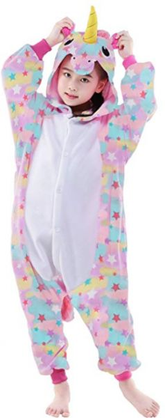 1269f3a8e9515 3-12 Y Unicorn Children Unisex Cute Onesies Animal Cartoon Siamese Pajamas  Home Wear Cosplay Pajamas Flannel Sleepwear Home Clothes for Girls Boys Kids