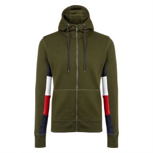 ccbe6ac37a93 Tommy Hilfiger Zip Up Hoodie for Men - Olive