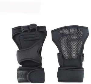 afe18490822d Silicone Padding Cross Training Gloves with Wrist Support for Gym  Workout
