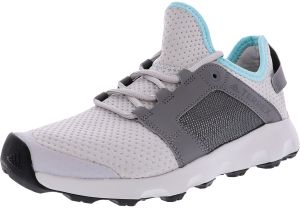 promo code 399b2 a70d8 Adidas Womens Terrex Voyager Dlx Grey  Core White Ankle-High Trail Runner  - 9M