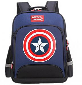 40ab14e80da9 Large Marvel American Captain s Schoolbag with Glittering light Primary School  Boys Backpack Children s Reduced Shoulder Bag Small