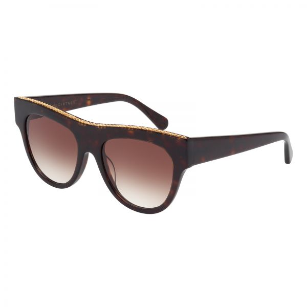 89fb9578a28 Stella McCartney Round Sunglasses for Women - Brown Lens