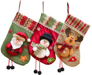 3pcs Cute Christmas Stocking Holder Santa Claus Sock Christmas Tree Hanging  Ornament Gift Candy Bags Xmas Festival Decoration Craft 7467f60f7a32