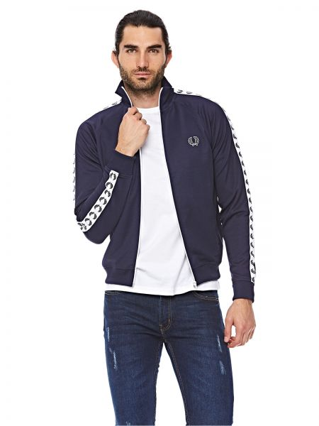 0c66d39779 Fred Perry Taped Track Jacket For Men - Navy Blue