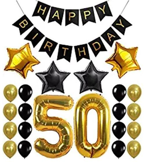 50th Birthday Decorations Balloon Banner