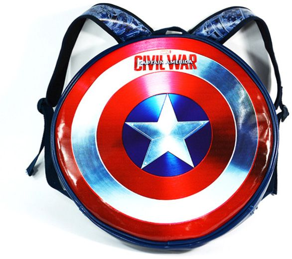 f9b0eaab74 Cool anime Marvels Captain america Shield Printed Casual Fashion Student School  Backpack Unisex Round Bookbag Schoolbag Bags Bookbag for Kids Boys Girls ...