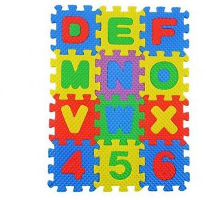 36pcs Kids Puzzle Exercise Play Mat With Eva Foam Interlocking Tiles 26pcs Letters And 10 Numbers Of Foam