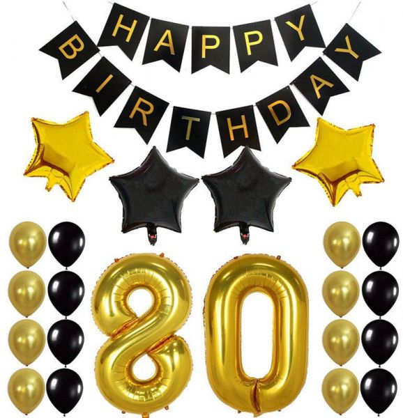 80TH Birthday Party Decorations Kit