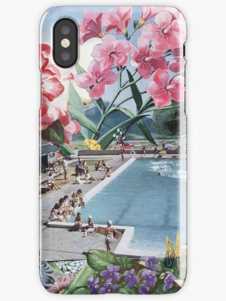 Summer swimming pool floral Phone Case for iPhone X