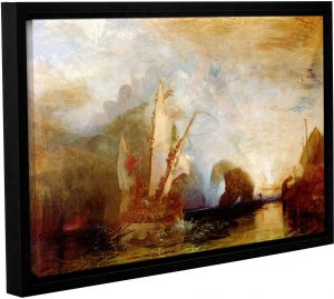 280717d1d30 ArtWall William Turner s Ulysses Deriding Polyphemus Gallery Wrapped  Floater Framed Canvas