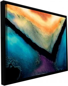 14 by 18-Inch ArtWall Dean Uhlinger Break in The Storm Gallery Wrapped Canvas Artwork