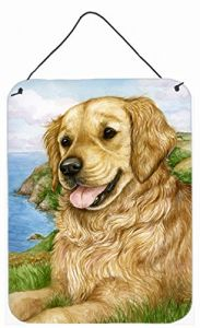 13 by 13-Inch 3dRose dpp/_62894/_2 Golden Retriever Angel Dog Sitting on a Cloud with a Cute Halo and Angel Wings Wall Clock