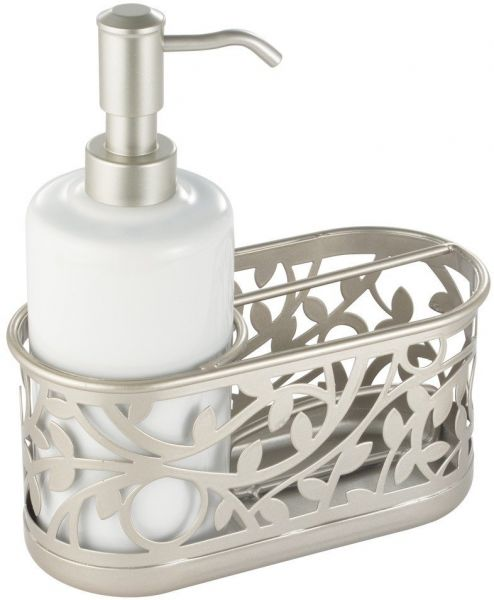 Interdesign Vine Soap Dispenser Pump And Sponge Caddy Kitchen Sink