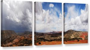 ArtWall Water and Rocks Flat Unwrapped Canvas Art by Dan Wilson 22 by 40-Inch