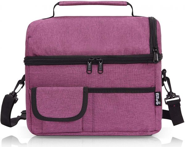 PuTwo Lunch Bag 8L Insulated Lunch Bag Lunch Box Lunch Bags Women Lunch Bag  Men Cooler Bag YKK Zip Adjustable Shoulder Strap Lunch Tote Kids Lunch Box  Lunch ... ae1080ed83