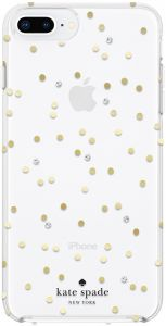 7be2386fe742 kate spade new york Cell Phone Case for iPhone 8 Plus 7 Plus 6 Plus 6s Plus  - Multi Scatter Dot Gold with Gems