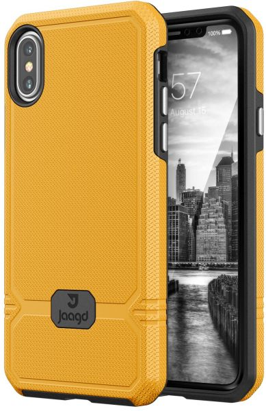newest 4c291 8210d Jaagd iPhone X Case, Slim Shock-absorbing Modern Slim Non-slip Grip Cell  Phone Cases for Apple iPhone X (Sunshine)