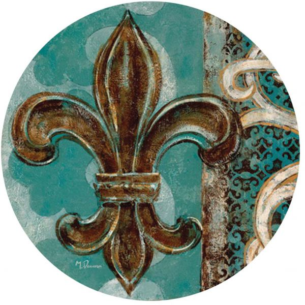 Thirstystone Drink Coaster Set Teal Fleur De Lis Souq Uae