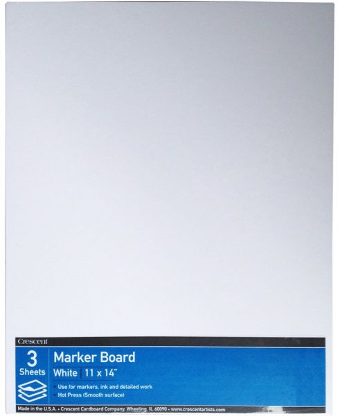 Crescent 215 Marker Board Hot Press Value Pack 3 Count 11 X 14 Size