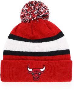 OTS NBA Chicago Bulls Male Rush Down Cuff Knit Cap with Pom 2f94d794ef07
