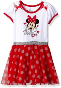 643241aa44d57 Disney Little Girls  Minnie Mouse Birthday Dress