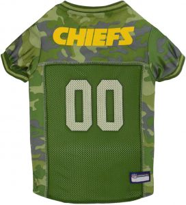 Pets First NFL KANSAS CITY CHIEFS CAMOUFLAGE DOG JERSEY 0034c661c
