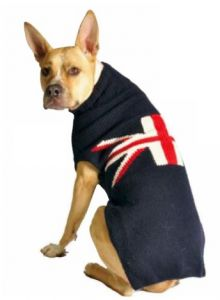 8a4db26c6 Chilly Dog Union Jack Dog Sweater