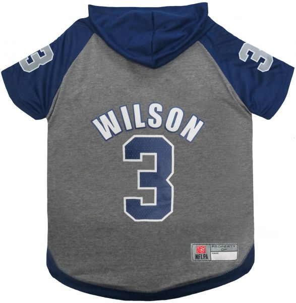 NFL NFLPA RUSSELL WILSON HOODIE for DOGS   CATS SEATTLE SEAHAWKS Dog T-Shirt bccf30f6e