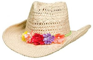 c8d7a7f8e0f Amscan Oasis Cowboy Hat with Floral Hatband Hawaiian Summer Luau Costume  Dress up Party Headwear