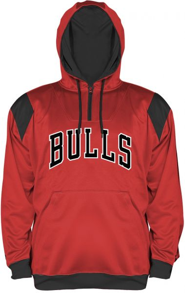 NBA Chicago Bulls Men s Big   Tall 1 4 Zip Synthetic Pullover Hoodie ... e3bc9182f