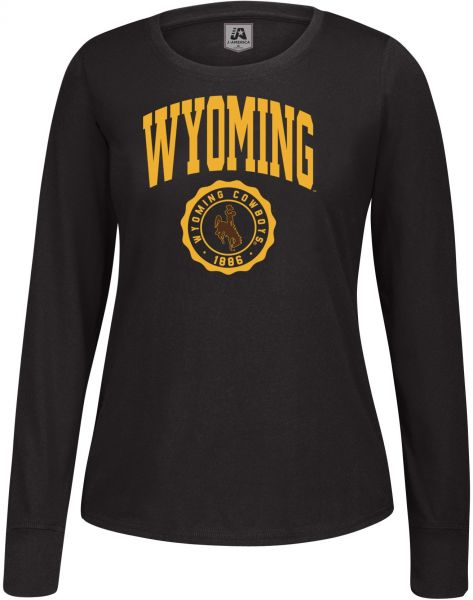 J America NCAA Wyoming Cowboys Women s Athletic Seal Long Sleeve Essential  Tee 88d2e222b