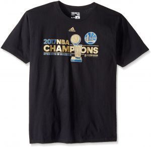 36b8b656278 adidas NBA Golden State Warriors Men s 2017 Finals Champions Locker Room  T-Shirt