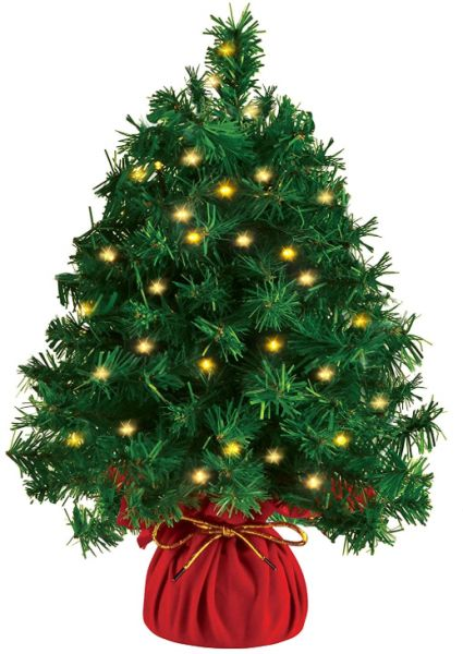 20 Inch Tabletop Mini Christmas tree Prelit with 100 Clear LED Lights(8 Light Modes), Best Home and Office Christmas Decorations   Souq - UAE