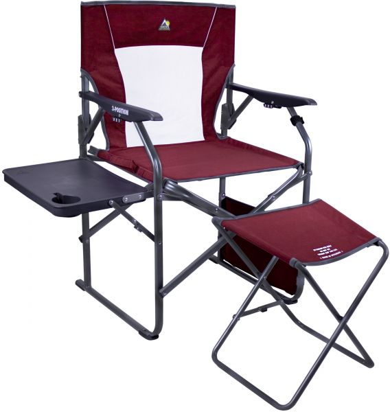 Gci Outdoor 3 Position Reclining Director S Chair Side Table And