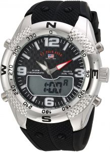 5beec80e U.S. Polo Assn. Men's Quartz Metal and Rubber Casual Watch, Color Black  (Model: US9662)