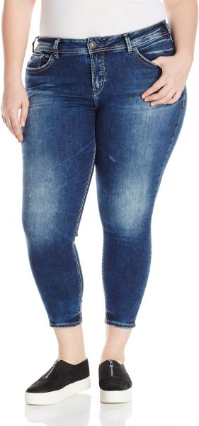 71684ff8b2c Silver Jeans Co. Women s Plus Size Avery Curvy Fit High Rise Ankle ...