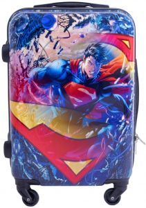 2057c29b24 DC Comics Luggage Superman 21 Inch Spinner Rolling Upright Hardsided Luggage
