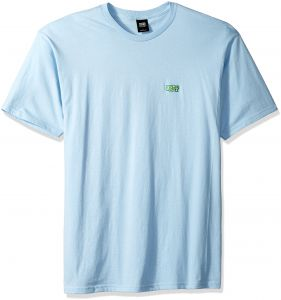 d5a627fc Obey Men's Better Days Short Sleeve Crewneck T-Shirt, Powder Blue, L