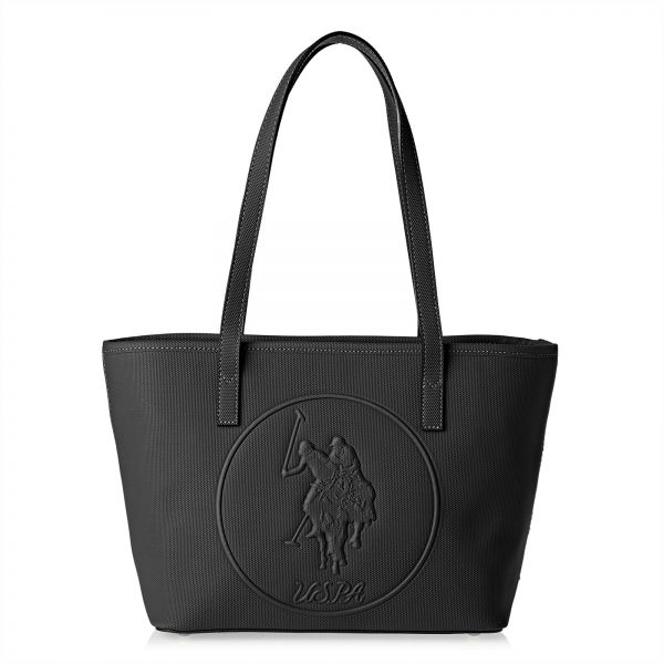 a23f69912a U.S. Polo Assn. Leather Tote Bag for Women - Black