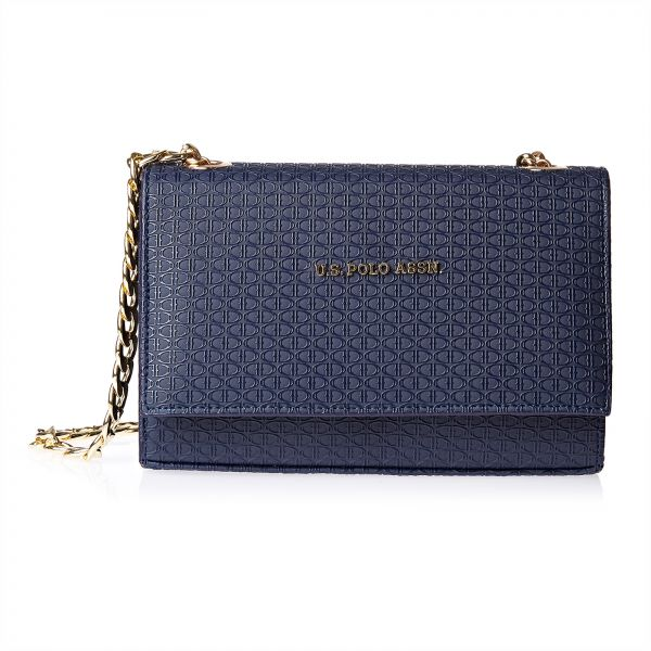 bdde5d7a53b1 U.S. Polo Assn. Leather Clutch Bag for Women - Navy