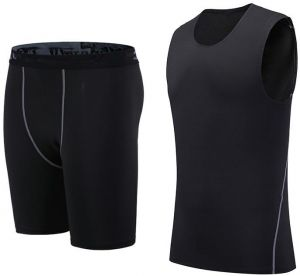 6570362e604 Fitness wear running sportswear vest men s quick-drying five points shorts  suit basketball tights training suit -Y