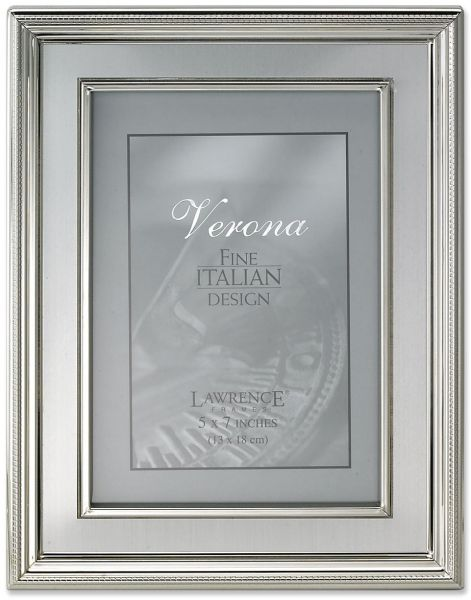 Lawrence Frames 5 By 7 Inch Silver Plated Metal Picture Frame