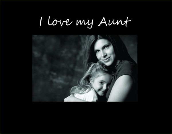 Infusion Gifts 9089sb I Love My Aunt Small Engraved Photo Frame