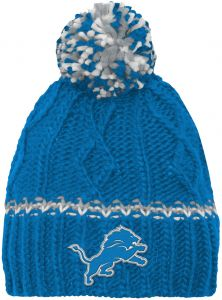 best service afb8f b74e5 NFL by Outerstuff NFL Girls 7-16 Cable Knit Rib Cuffless Hat-Lion Blue-1  Size, Detroit Lions