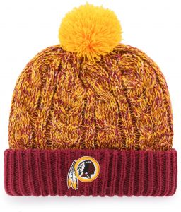 OTS NFL Washington Redskins Women s Brilyn Cuff Knit Cap with Pom ... b88eafc5e