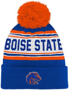 ac587d13547 Outerstuff NCAA Boise State Broncos Kids   Youth Boys Jacquard Cuffed Knit  Hat w Pom